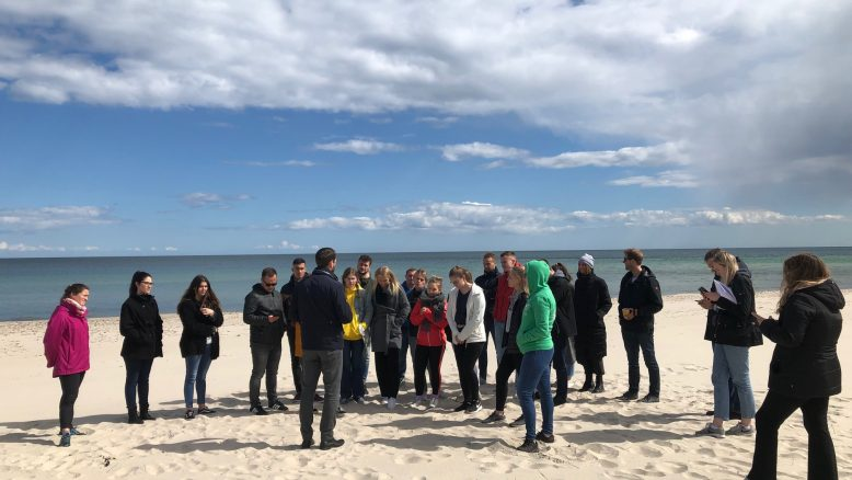 Lecture at the beach of Öland